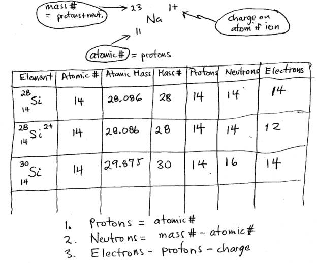 Atomic Structure  Notes For Worksheet Std