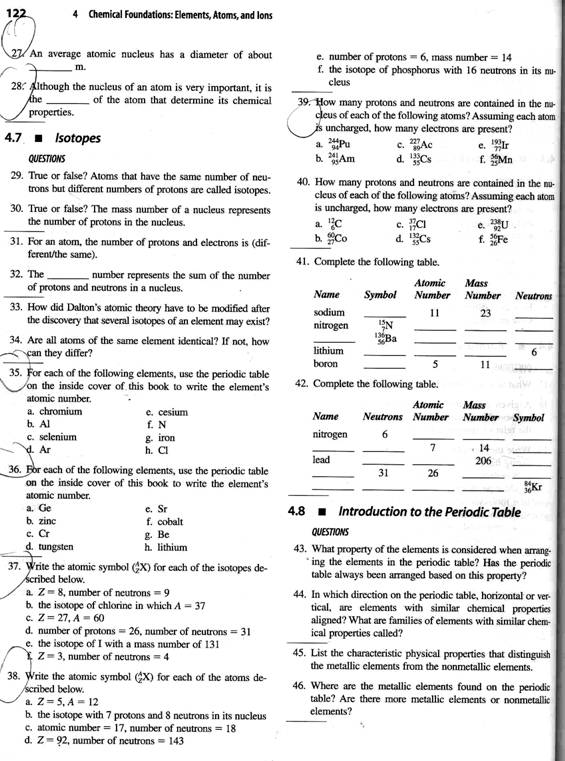 Structure of the Atom Worksheet 2 – Atomic Structure Worksheet